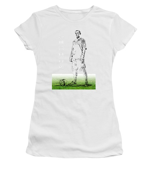 Wayne Rooney Women's T-Shirt (Junior Cut) by ISAW Gallery