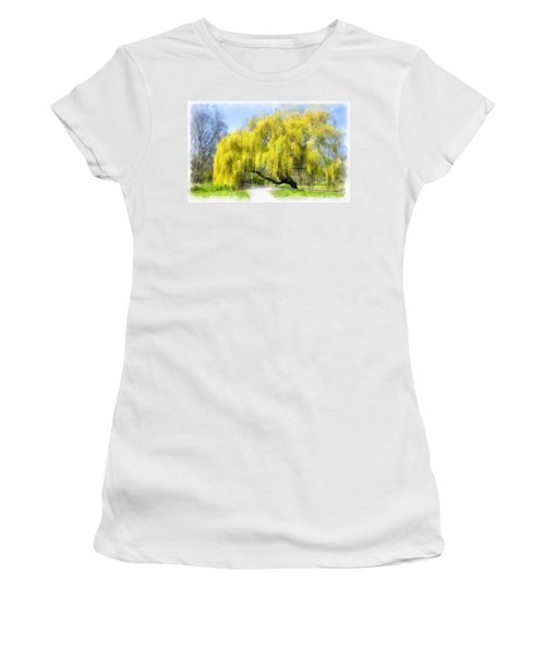 Weeping Willow Aquarell Women's T-Shirt (Athletic Fit)