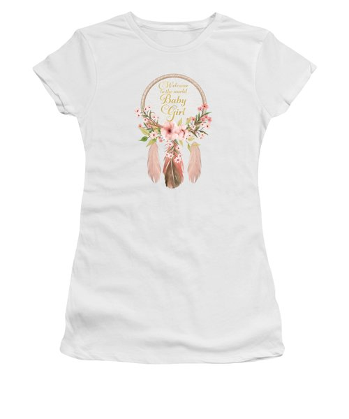 Welcome To The World Baby Girl Dreamcatcher Women's T-Shirt