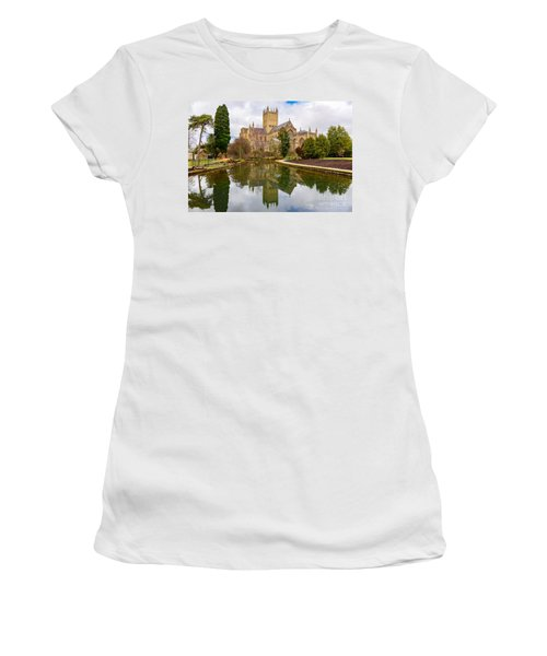 Wells Cathedral Women's T-Shirt (Junior Cut) by Colin Rayner