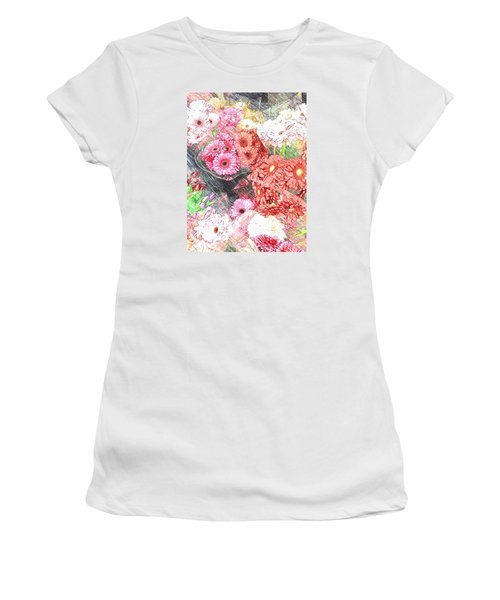 Wendy's Flowers Women's T-Shirt (Junior Cut) by Jan Amiss Photography