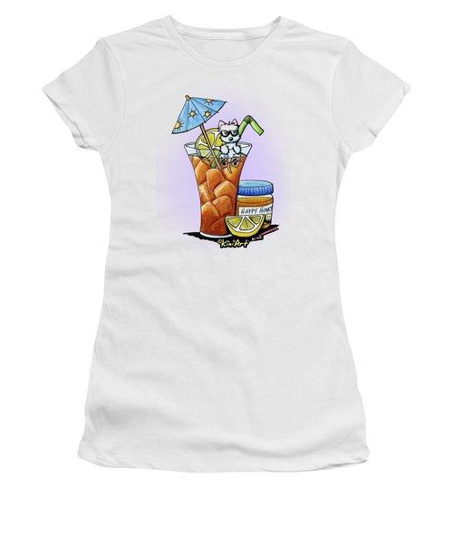 West Highland Iced Tea Women's T-Shirt (Junior Cut) by Kim Niles