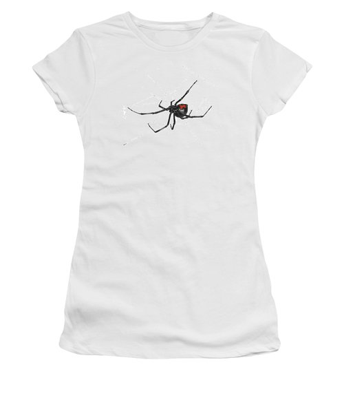 Western Black Widow - Color Women's T-Shirt (Athletic Fit)