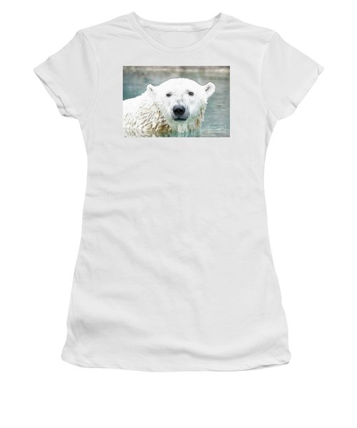 Wet Polar Bear Women's T-Shirt (Athletic Fit)