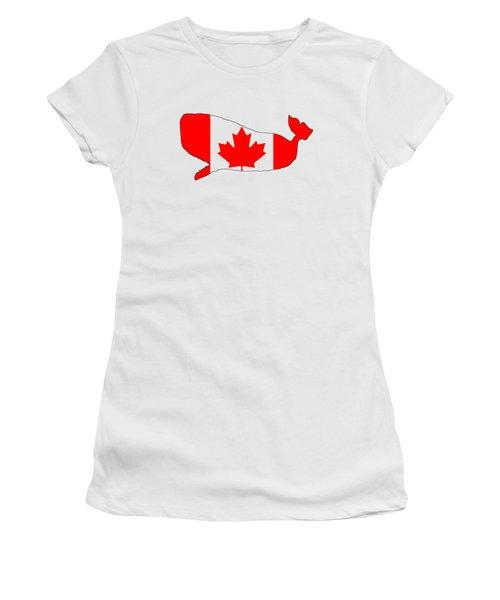 Whale Canada Women's T-Shirt (Junior Cut) by Mordax Furittus