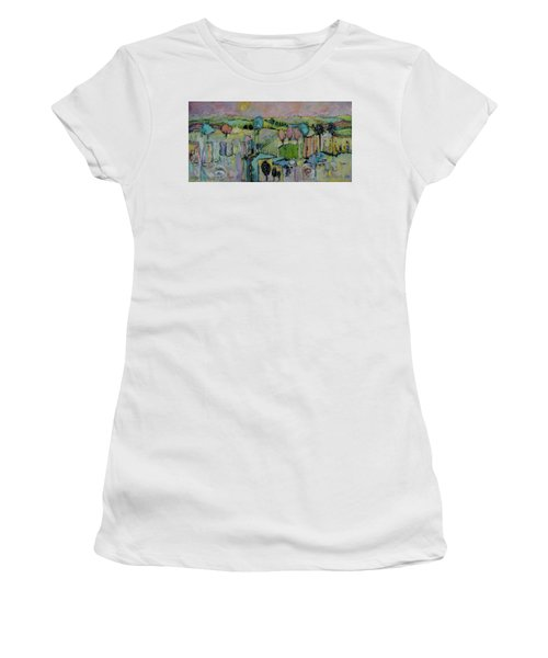 What A Bird Sees Women's T-Shirt (Junior Cut) by Sharon Furner