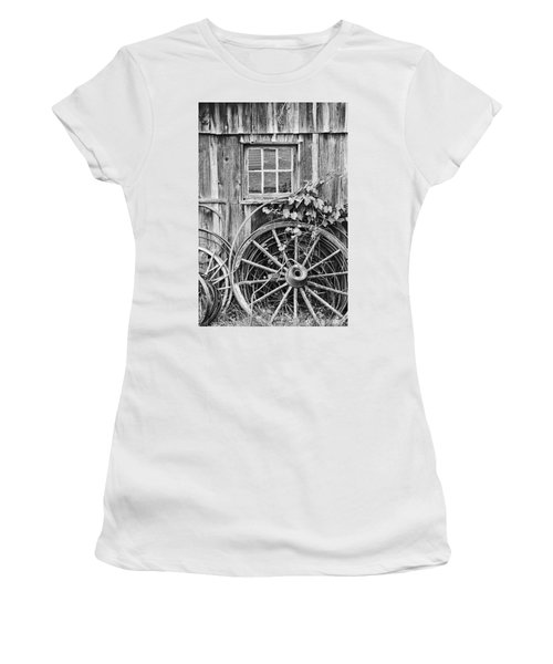 Wheels Wheels And More Wheels Women's T-Shirt (Athletic Fit)