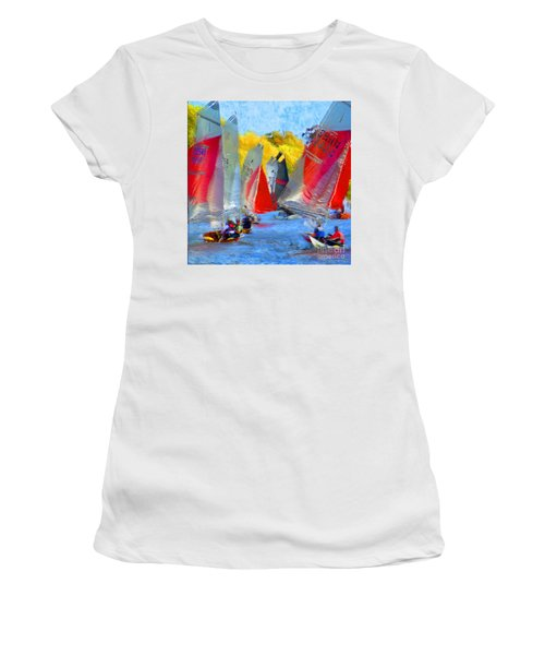 When The Wind Blows Women's T-Shirt (Athletic Fit)