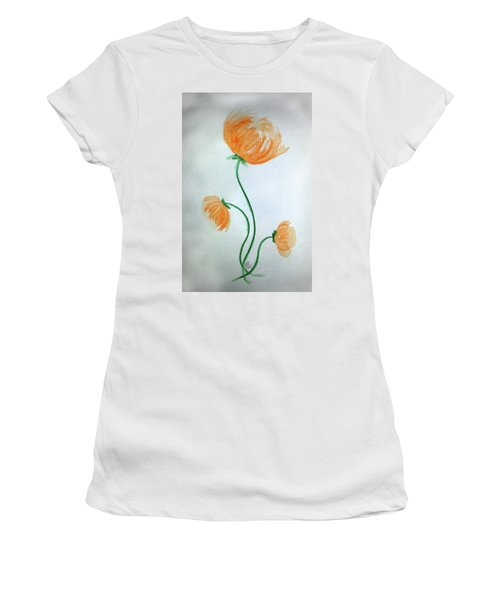 Whimsical Flowers Women's T-Shirt (Athletic Fit)