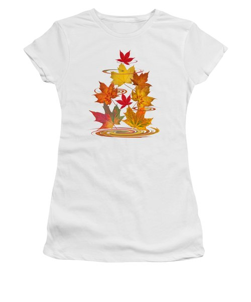 Whirling Autumn Leaves Women's T-Shirt