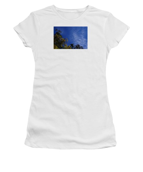 Whispy Clouds Women's T-Shirt (Junior Cut) by Adria Trail