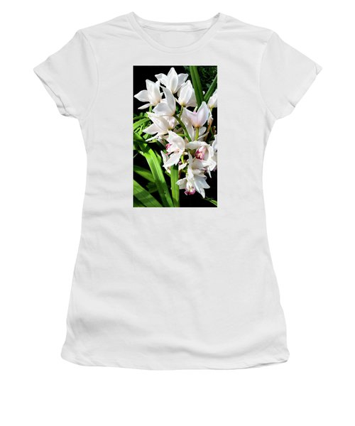 White Elegance Women's T-Shirt (Athletic Fit)