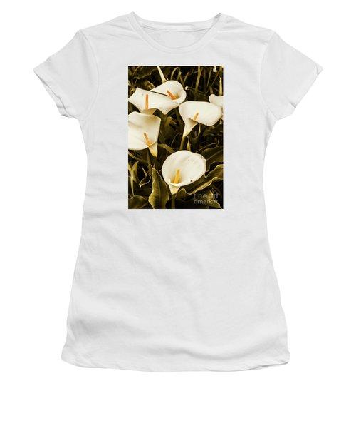 White Calla Lilies Women's T-Shirt