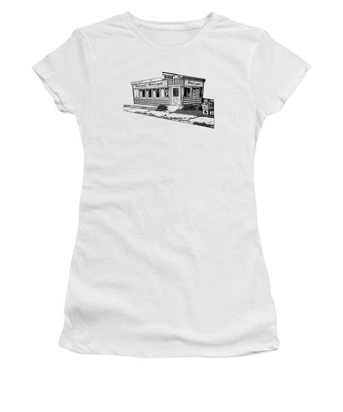 White Crystal Diner Nj Sketch Women's T-Shirt