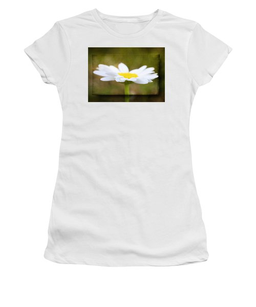 White Daisy Women's T-Shirt (Junior Cut) by Eduard Moldoveanu