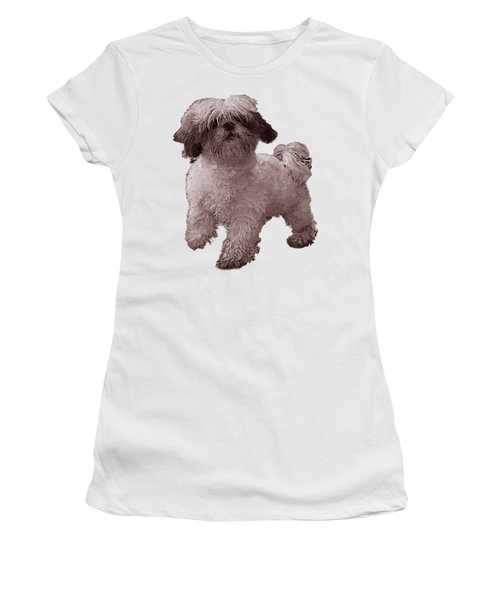 White Dog  Women's T-Shirt (Athletic Fit)