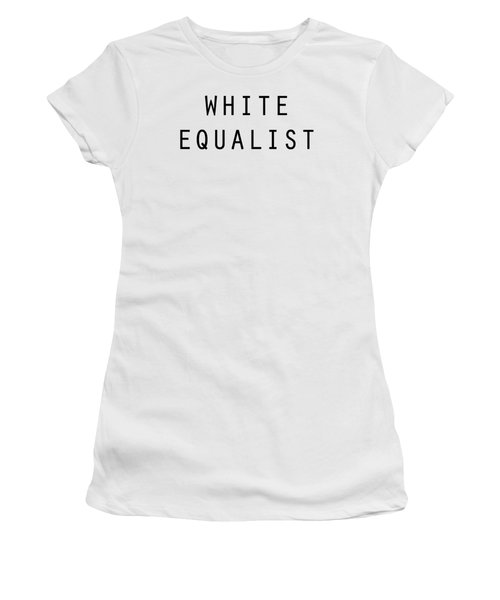 White Equalist Women's T-Shirt (Athletic Fit)