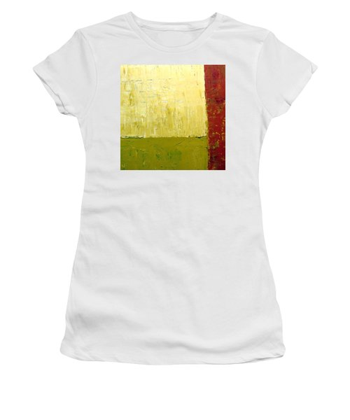White Green And Red Women's T-Shirt