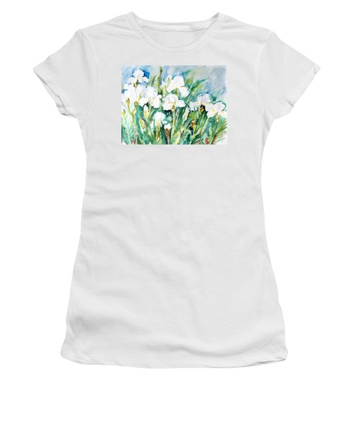 White Irises Women's T-Shirt (Athletic Fit)
