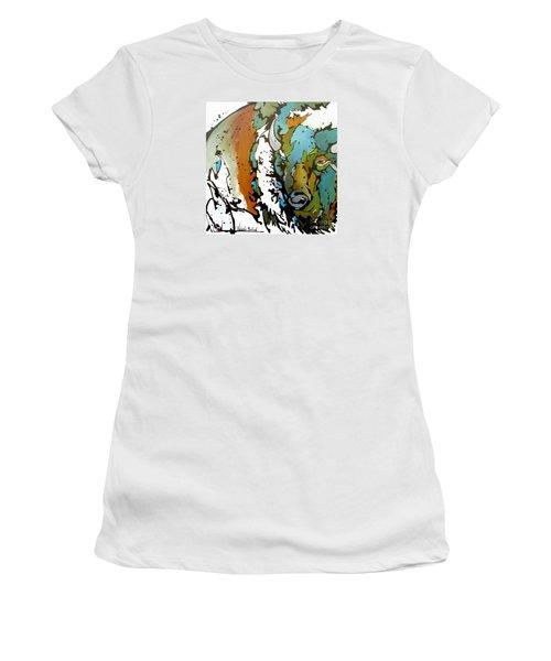 White Lightning Women's T-Shirt (Junior Cut) by Nicole Gaitan