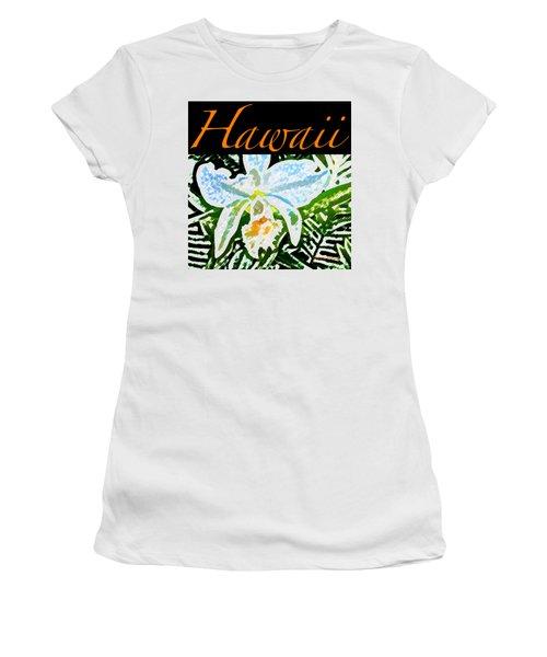 White Orchid T-shirt Women's T-Shirt (Junior Cut) by James Temple