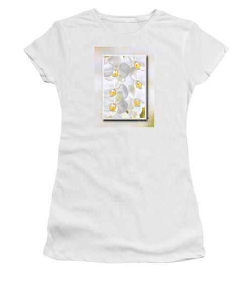 White Orchids Framed Women's T-Shirt