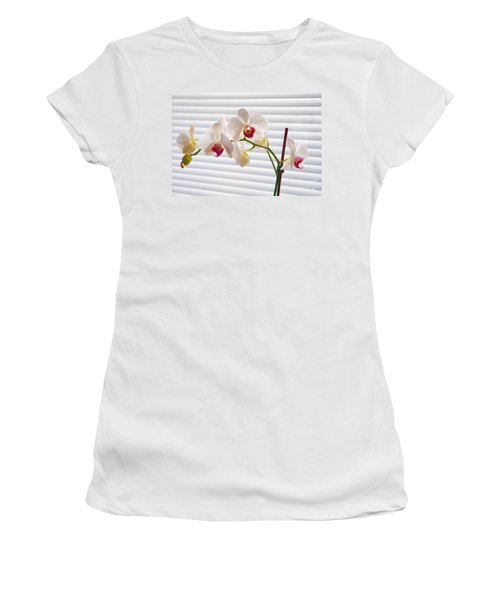 White Orchids On White Women's T-Shirt