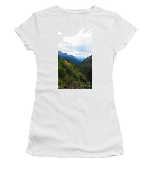 White Pass Rail Road Women's T-Shirt (Athletic Fit)