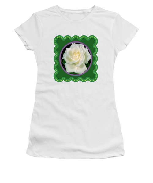 White Rose Flower Floral Posters Photography And Graphic Fusion Art Navinjoshi Fineartamerica Pixels Women's T-Shirt (Athletic Fit)