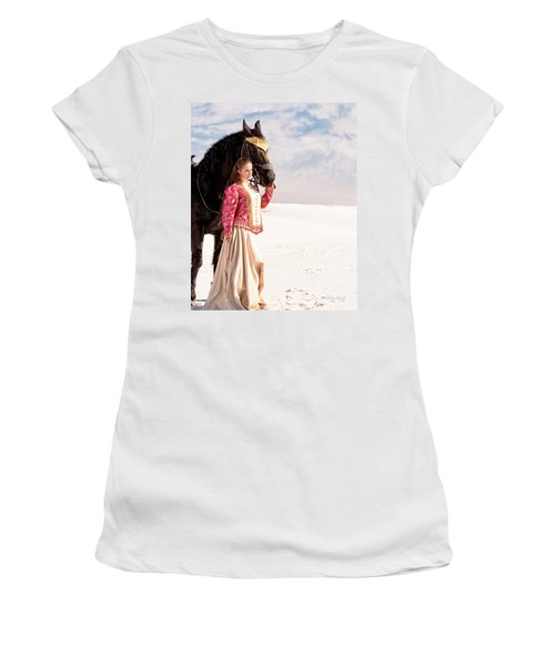 White Sands Horse And Rider #2a Women's T-Shirt (Athletic Fit)