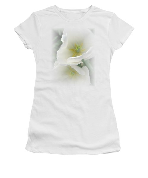 White Tulip Fantasy Women's T-Shirt (Athletic Fit)