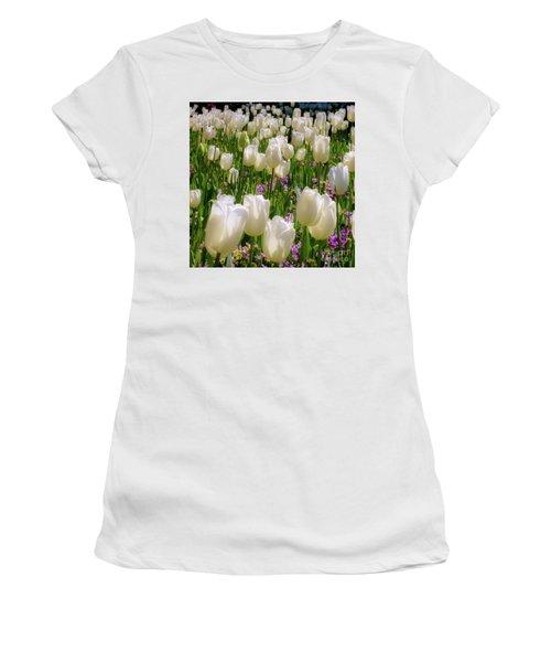 White Tulips In Bloom Women's T-Shirt