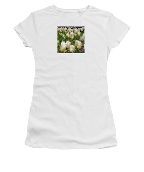 White Tulips In Bloom Women's T-Shirt