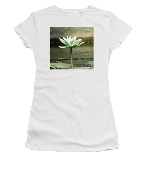 Women's T-Shirt (Junior Cut) featuring the photograph White Water Lily 2 by Randall Weidner
