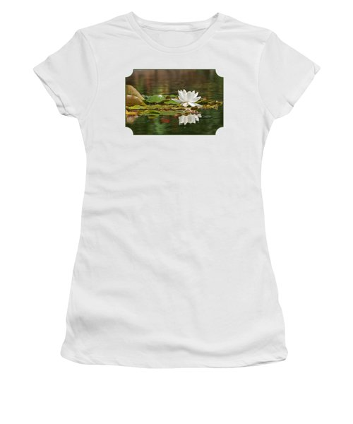 White Water Lily With Damselflies Women's T-Shirt
