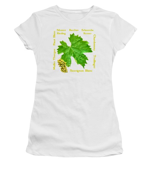 White Wine Lettering Women's T-Shirt (Athletic Fit)