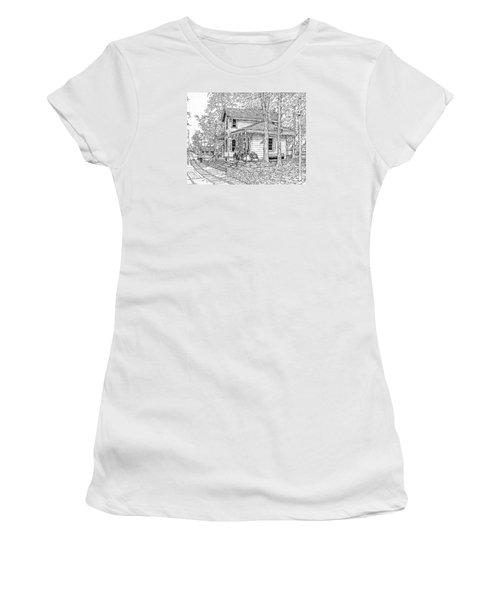 Whitehall Station Bryn Mawr Pennsylvania Women's T-Shirt (Junior Cut) by Ira Shander
