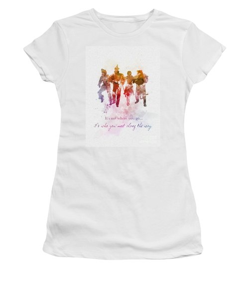 Who You Meet Along The Way Women's T-Shirt (Athletic Fit)