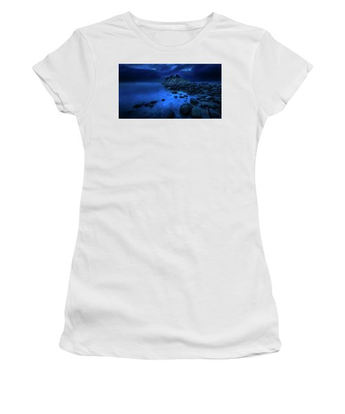 Women's T-Shirt (Junior Cut) featuring the photograph Whytecliff Dusk by John Poon