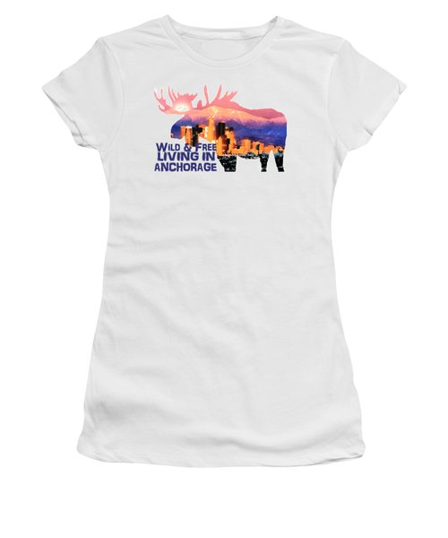 Wild And Free Women's T-Shirt (Athletic Fit)