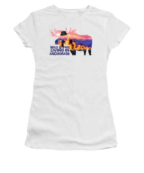 Wild And Free-in Anchorage Women's T-Shirt (Athletic Fit)