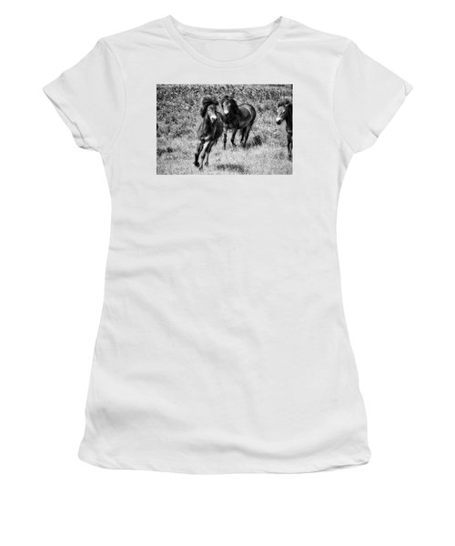 Wild Horses Bw4 Women's T-Shirt