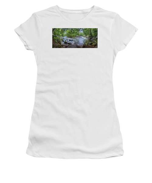 Women's T-Shirt (Junior Cut) featuring the photograph Wilderness Waterway by Bill Pevlor