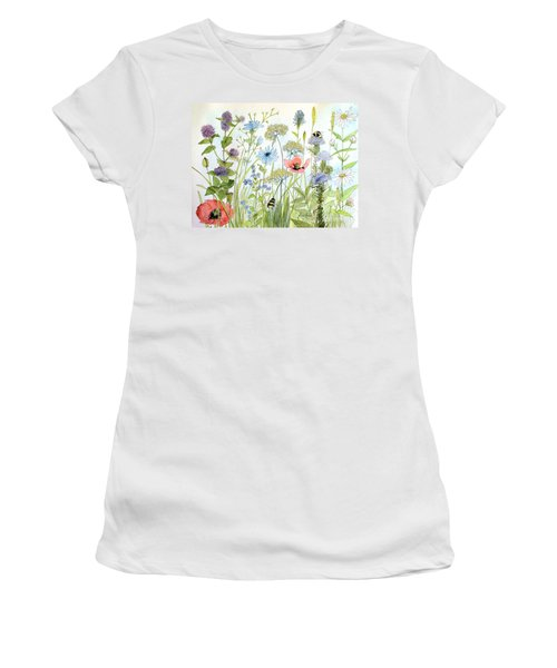 Wildflower And Bees Women's T-Shirt (Athletic Fit)