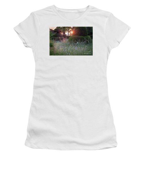Wildflower Meadow At Sunset, Great Dixter Women's T-Shirt