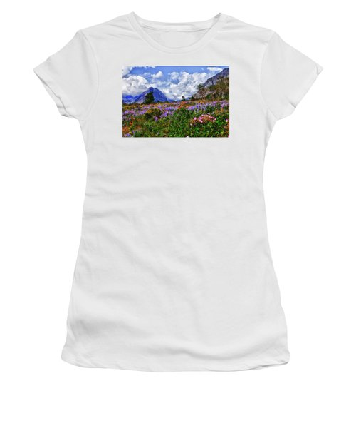 Wildflower Profusion Women's T-Shirt (Athletic Fit)