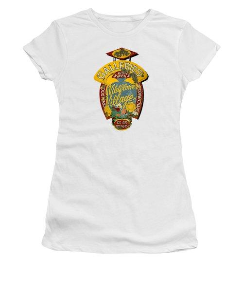 Wildflower Village Women's T-Shirt (Junior Cut) by Rick Mosher