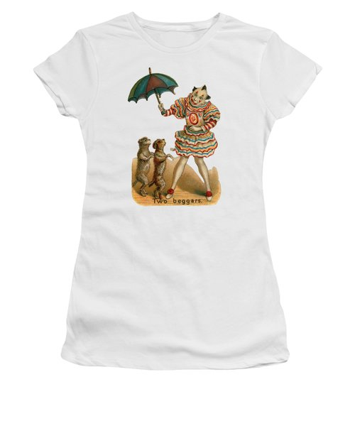 Will Work For Food Women's T-Shirt (Athletic Fit)