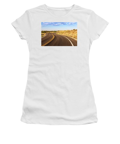 Winding Desert Road At Sunset Women's T-Shirt
