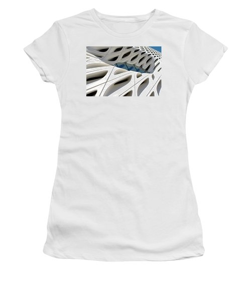 Women's T-Shirt featuring the photograph Window Pool At The Broad by Lorraine Devon Wilke